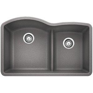 Diamond 32 X 20 88 Low Divide Undermount Kitchen Sink