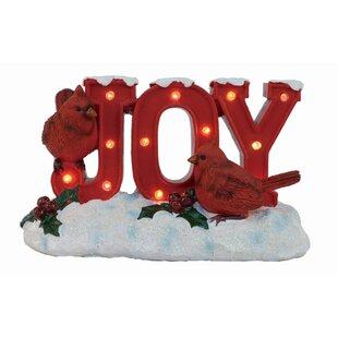 light up joy cardinal decor figurine