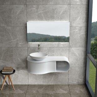 Cloud 39 Wall Mounted Single Bathroom Vanity By Orren Ellis