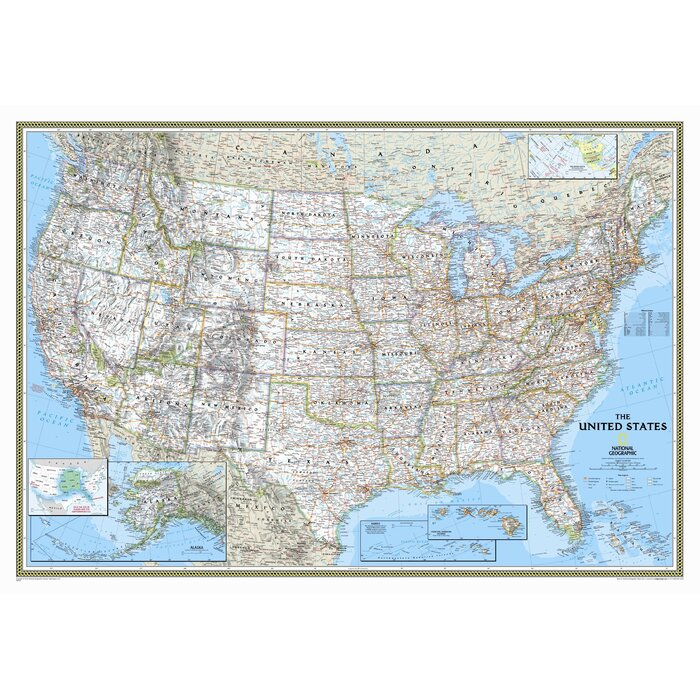 National Geographic Maps United States Classic Wall Map Reviews