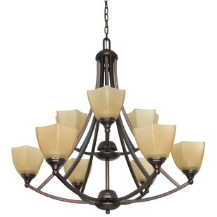 Winston Porter Cowen 9-Light Shaded Chandelier
