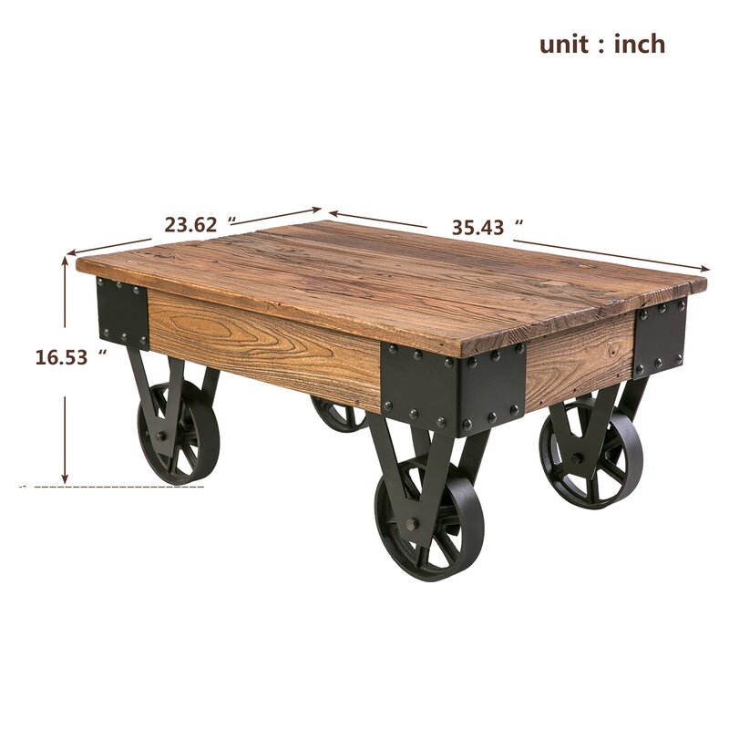 Deon Industrial Coffee Table