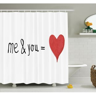 Reviews Love Quote Affection Romance Shower Curtain Set By Ambesonne