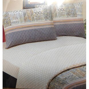 DaDa Bedding Checkered 200 Thread Count Cotton Flat Sheet Set