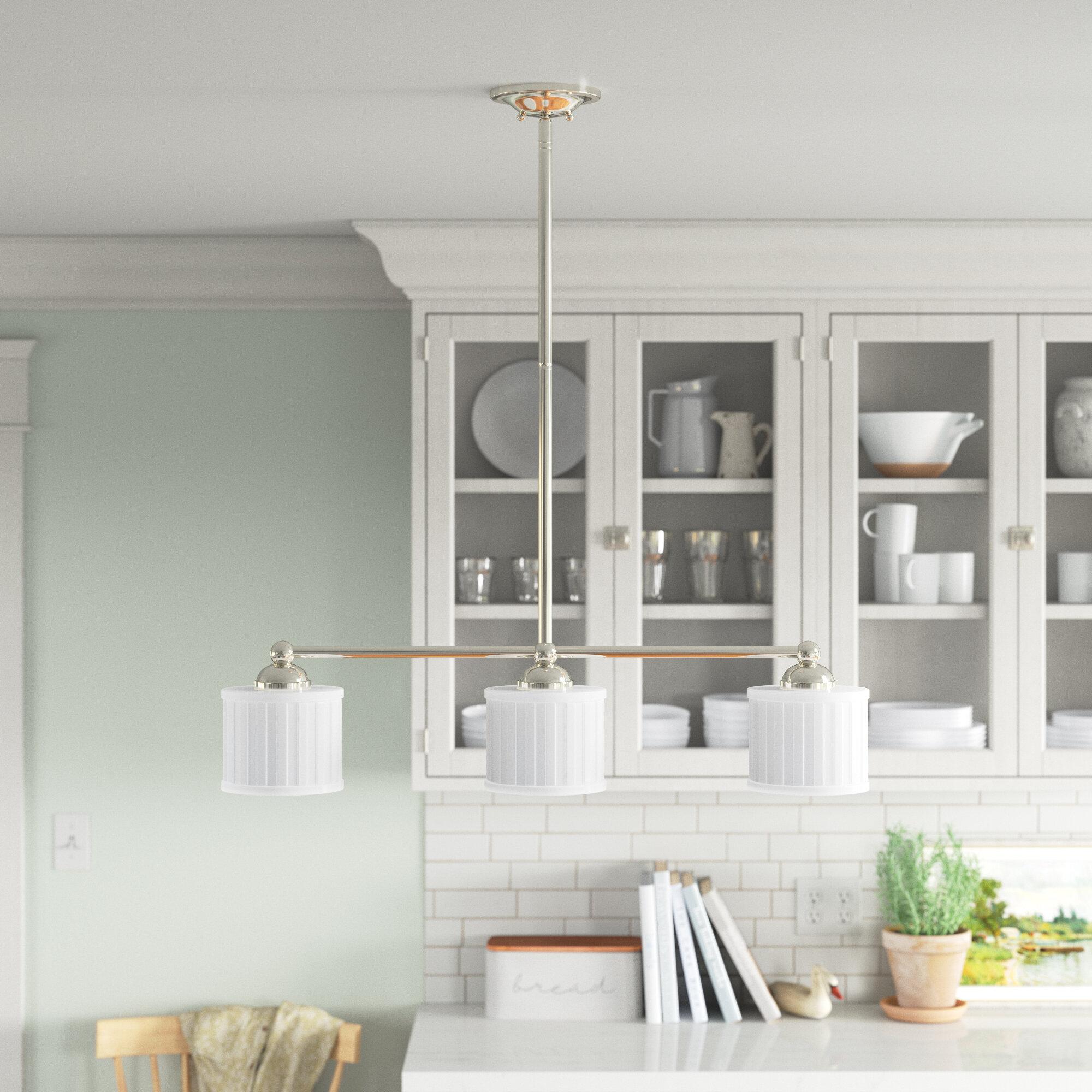 Andover Mills Nashville 3 Light Kitchen Island Linear Pendant Reviews Wayfair