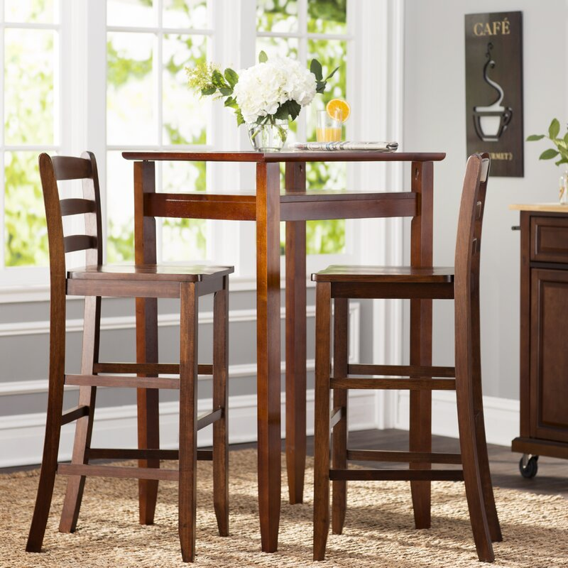 Halo 3 Piece Pub Table Set & Charlton Home Halo 3 Piece Pub Table Set \u0026 Reviews | Wayfair