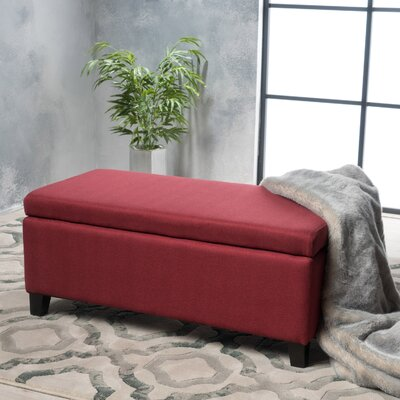 Pleasant Wrought Studio Vannatta Storage Ottoman Upholstery Deep Red Caraccident5 Cool Chair Designs And Ideas Caraccident5Info