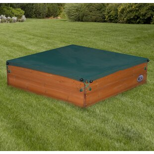 Lovely Sunny Cedar Wooden Square Sandbox With Cover
