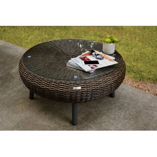 Anika Outdoor Wicker Coffee Table