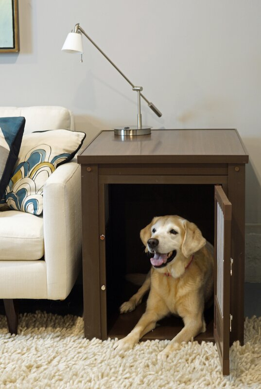 Nice New Age Pet Crate End Table