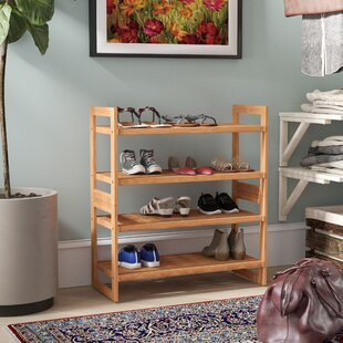 Great Price 4-Tier Shoe Rack (Set of 2) By Rebrilliant
