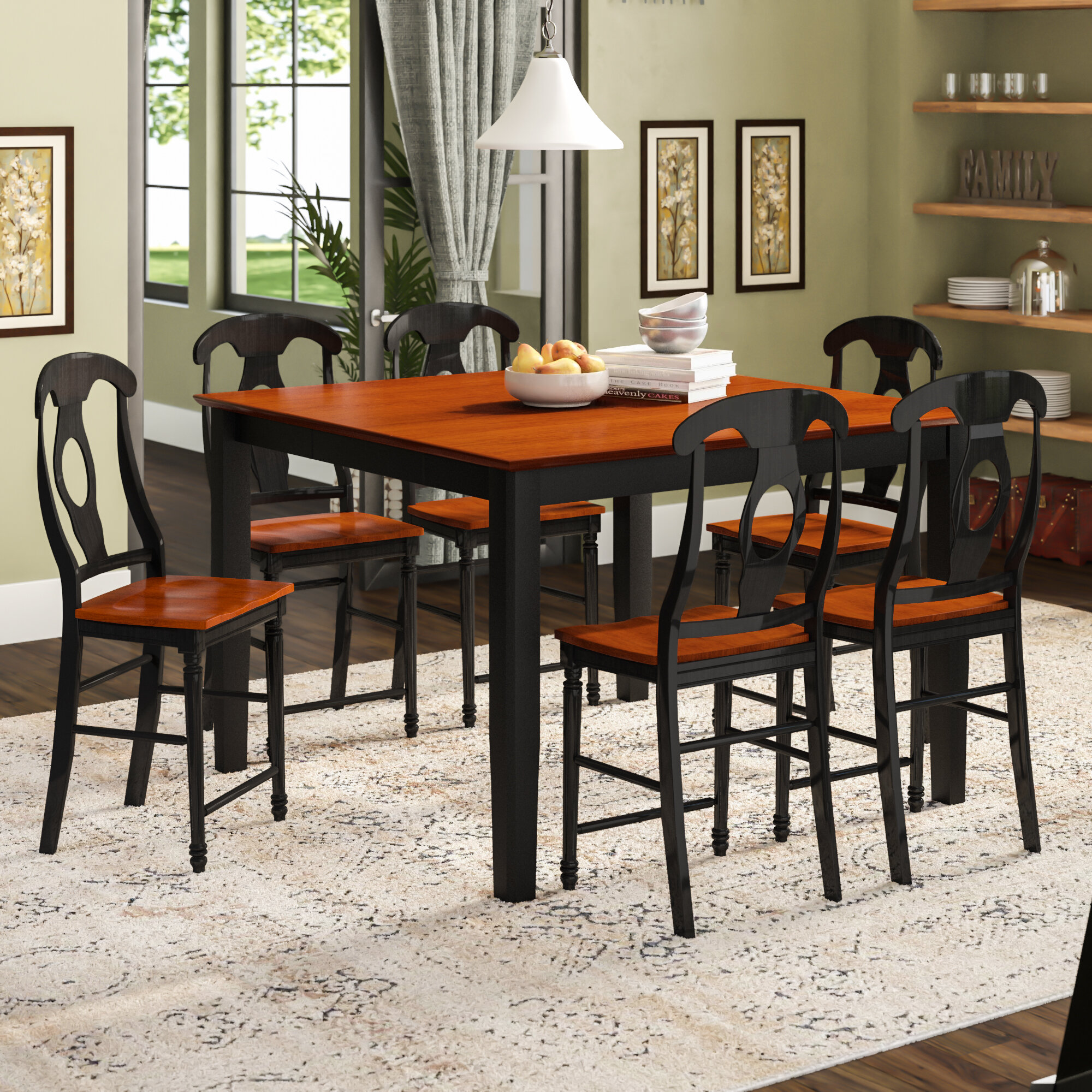 Fabulous Krull 7 Piece Counter Height Pub Table Set Onthecornerstone Fun Painted Chair Ideas Images Onthecornerstoneorg