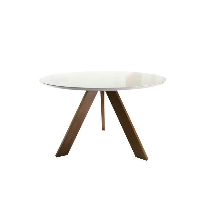 ramsay mid century modern dining table - Round Oak Dining Table
