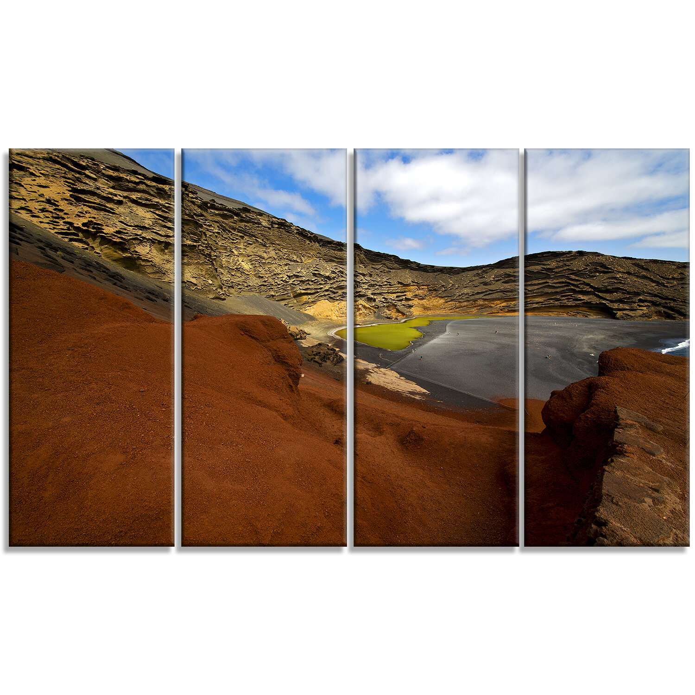 Designart In El Golfo Lanzarote Spain Musk Pond 4 Piece Photographic Print Set On Wrapped Canvas Wayfair