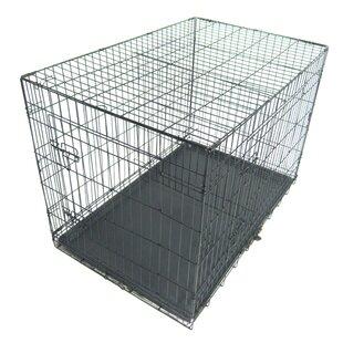 Sean Pet Kennel Cat Dog Folding Steel Pet Crate by Tucker Murphy Pet
