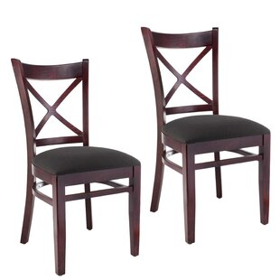 August Grove Gambrel Solid Wood Dining Chair (Set of 2)