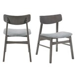 Toms Solid Wood Side Chair in Light Gray (Set of 2) by Foundry Select