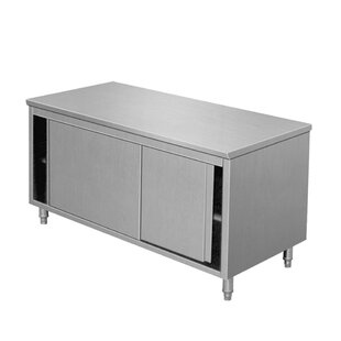 Symple Stuff Una Commercial Kitchen Island