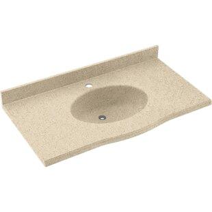 Europa Solid Surface 37 Single Bathroom Vanity Top BySwan