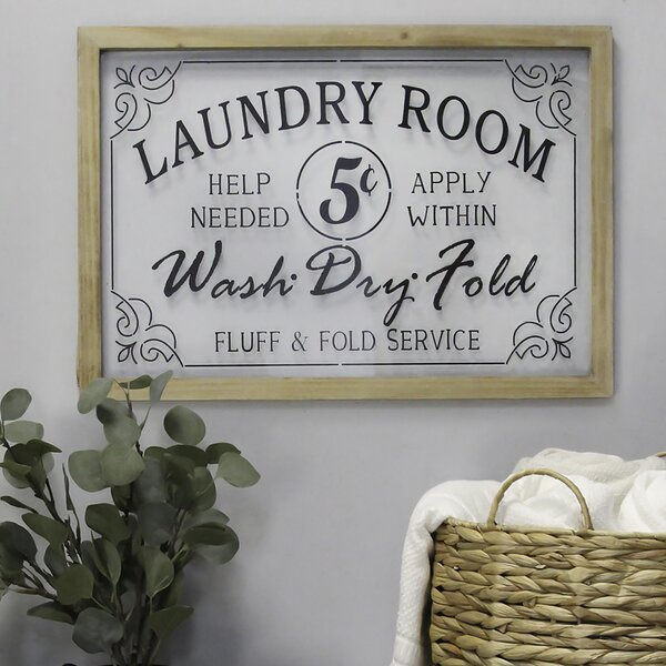 LAUNDRY ROOM WALL CLOCK TAN DECOR GIFT PERSONALIZED CUSTOMIZE ANY TEXT FREE