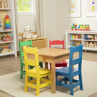 Kids 5 Piece Activity Table and Chair Set by Melissa & Doug