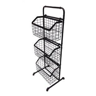 3 Tier Floor Stand Display Metal Basket