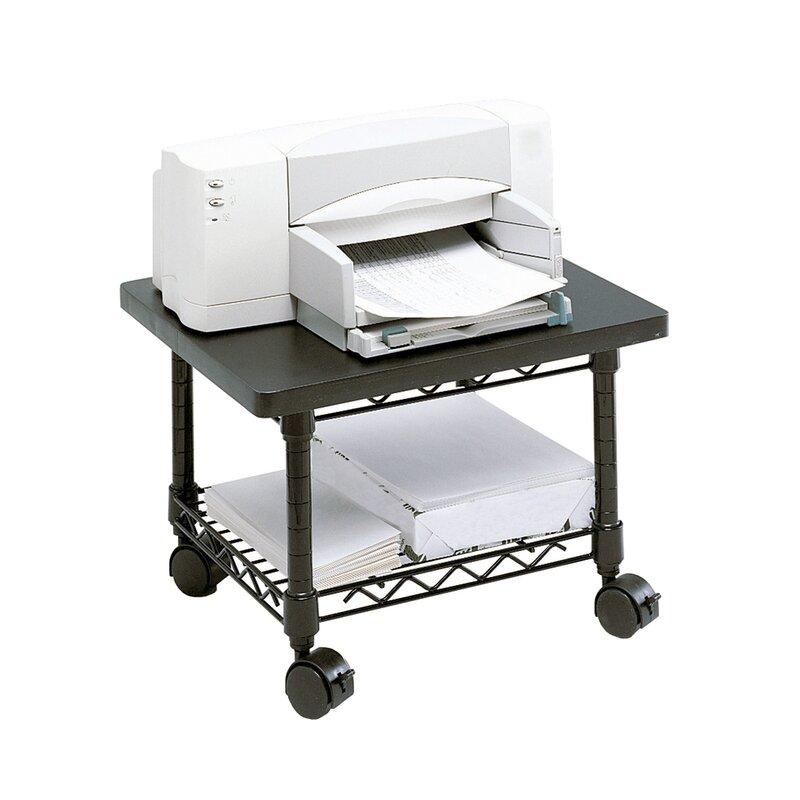 printer shelf computer desk office home wood furniture table laptop workstation itm