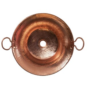 Guide to buy Miners Pan Hammered Metal Circular Vessel Bathroom Sink By Premier Copper Products