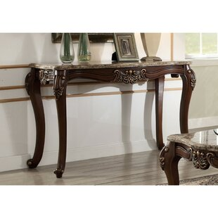 Unruh Marble Top Console Table