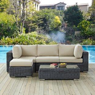 Brayden Studio Keiran 5 Piece Sunbrella Sofa Set with Cushions