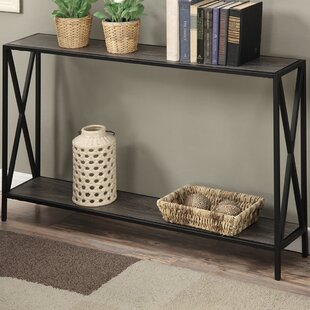 Narrow up to 10 Storage Console Sofa Tables Youll Love Wayfair