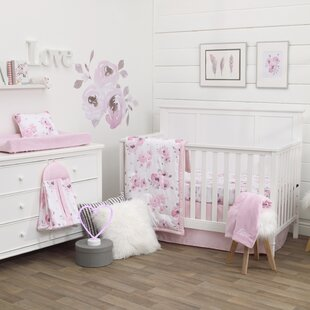 Budget Dreamer Watercolor Floral 8 Piece Crib Bedding Set ByCarter's®