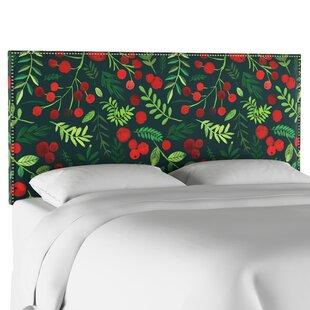 Boles Nail Button Border Upholstered Panel Headboard