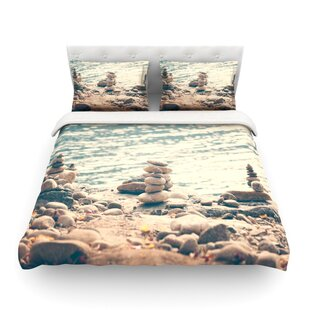 River Cairns by Catherine McDonald Featherweight Duvet Cover