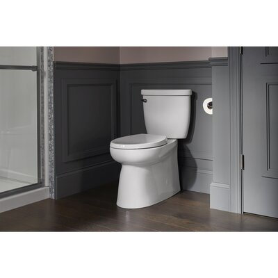Brella Elongated Comfort Height Skirted Two-Piece Toilet Sterling by Kohler