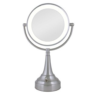 Compare Round Metal Vanity Mirror with LED Surround Light By Darby Home Co