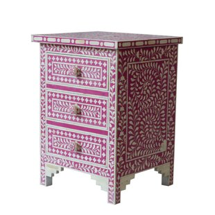 Affordable Gurule 3 Drawers Nightstand by Bungalow Rose