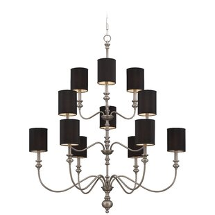 Craftmade Willow Park 12-Light Shaded Chandelier