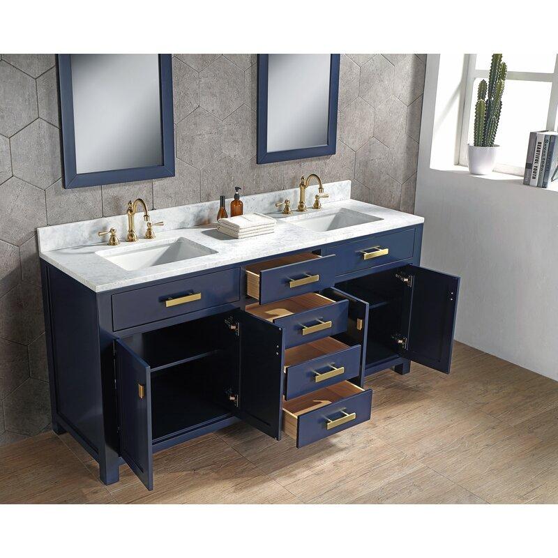 Rosecliff Heights Crisler 72 Double Bathroom Vanity Set With Mirror Wayfair