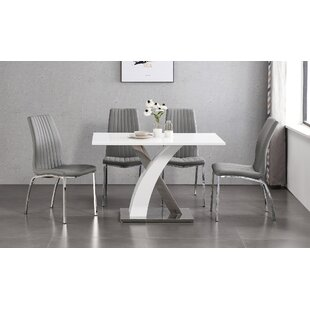 Vivan Dining Set With 4 Chairs By Wade Logan