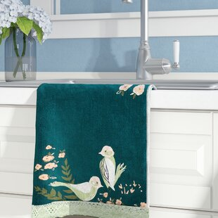 Cotton Flourish Towel with Scalloped Hem by August Grove