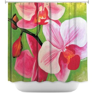 Moth Orchid Single Shower Curtain