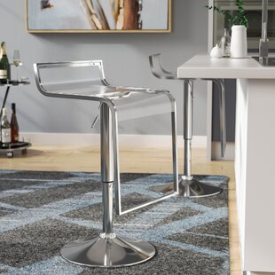 Klingbeil Adjustable Height Swivel Bar Stool