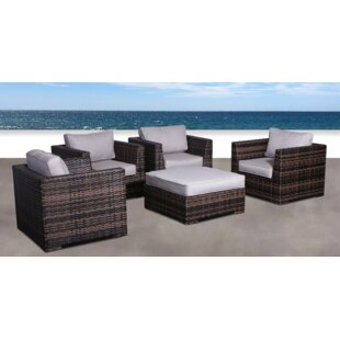 Pierson Resort 5 Piece Patio Chair Set with Cushions