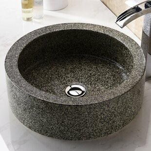 Read Reviews Black Desert Crown Glass Circular Vessel Bathroom Sink By ANZZI