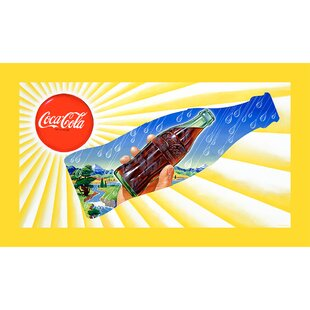 Sun & Rain Coke Bottle Vintage Advertisement on Wrapped Canvas by Trademark Fine Art