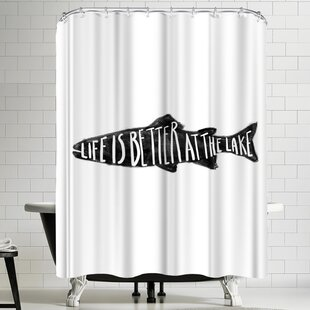 Jetty Printables Life is Better at the Lake Single Shower Curtain