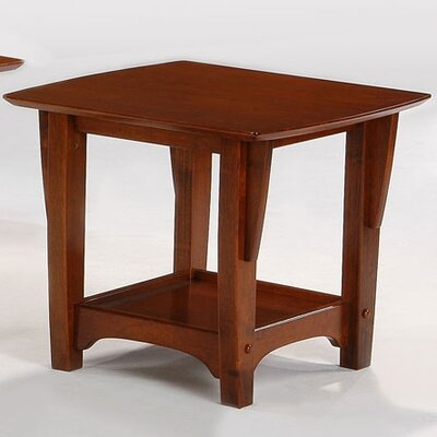 Premium Series End Table Night & Day Furniture Color: Cherry