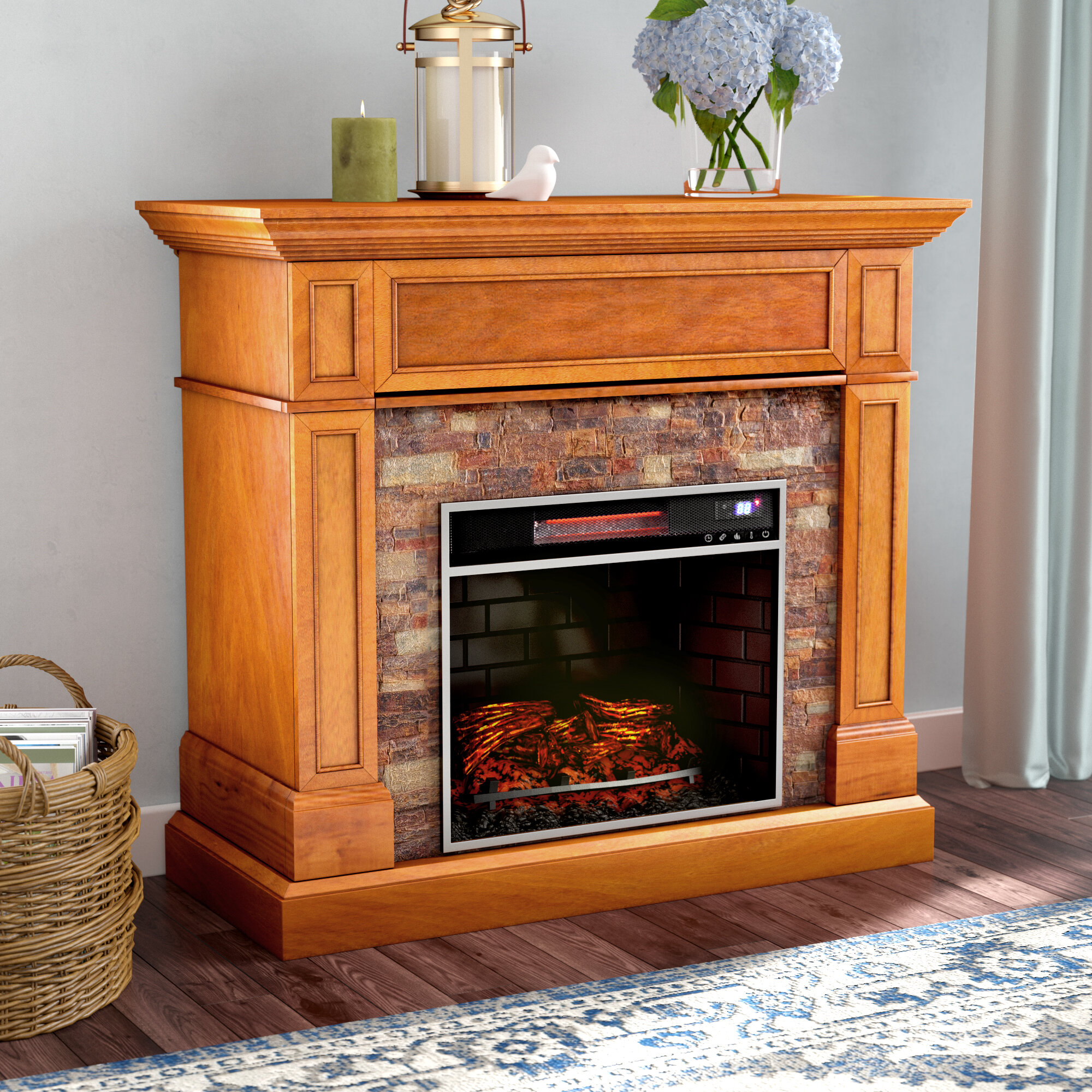 b tv depot electric in w black cooling fireplace n home stands venting heating fireplaces media the