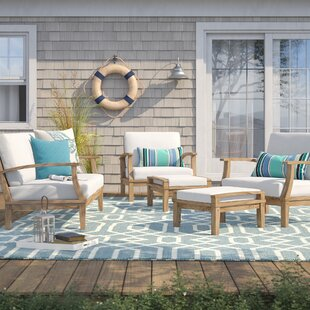 Elaina 5 Piece Teak Sofa Set with Cushions